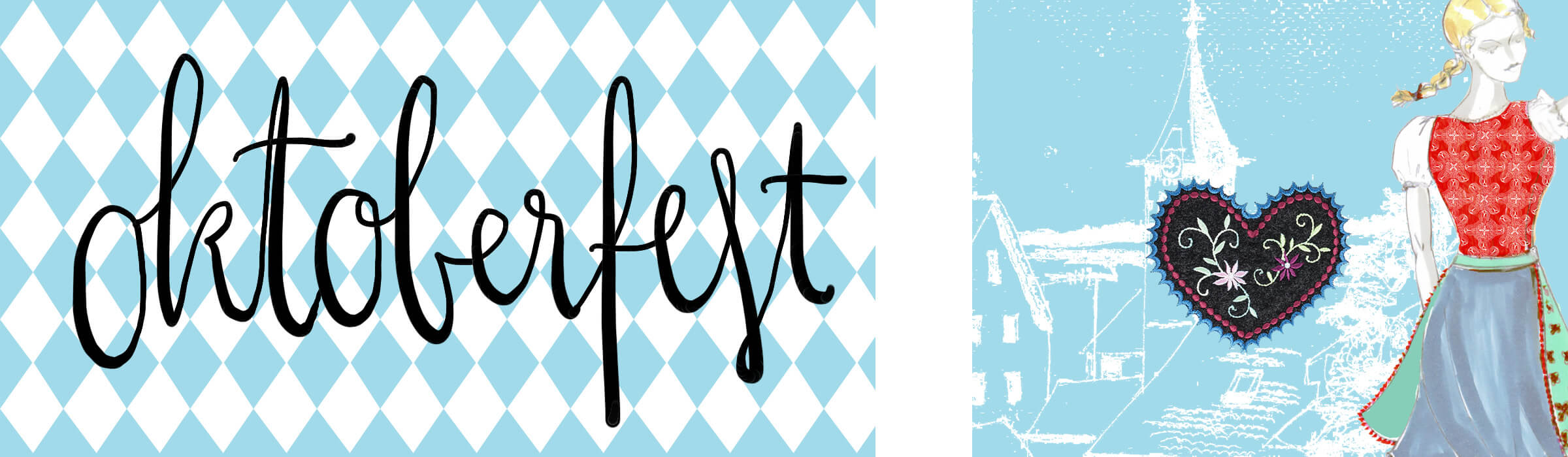 Oktoberfest Turnbeutel mit Herzlstick | Wunschleder