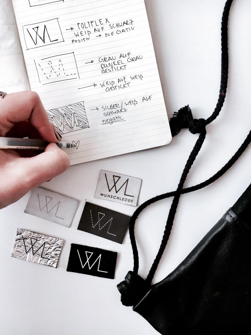 Erfahrt, welche Arbeitsschritte notwendig sind, damit ein Wunschleder Turnbeutel entsteht. Werft einen Blick hinter die Kulissen unserer Produktion! Fashion Design   Bag   Sketchbook