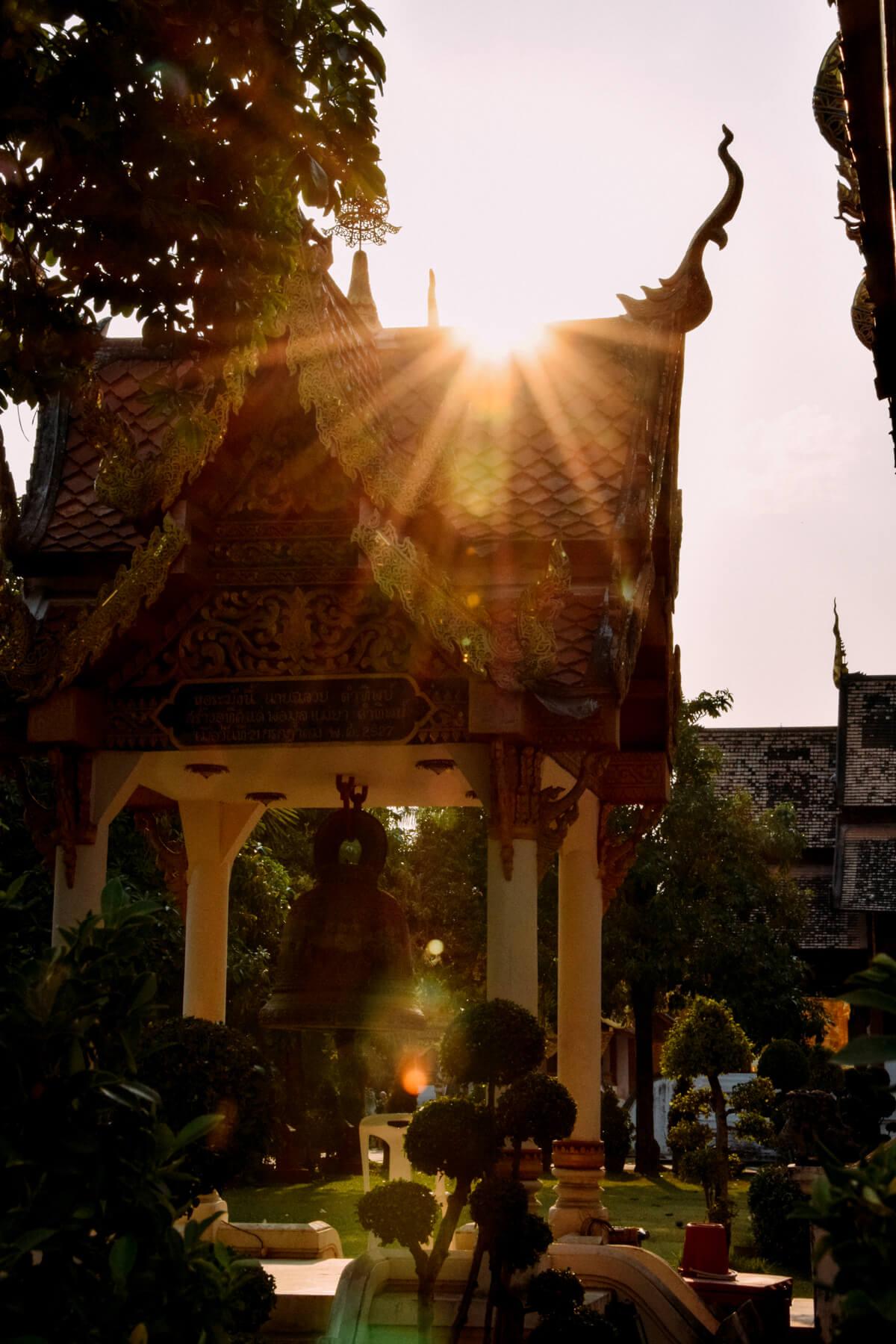 Tempel Sonnenuntergang Wunschleder