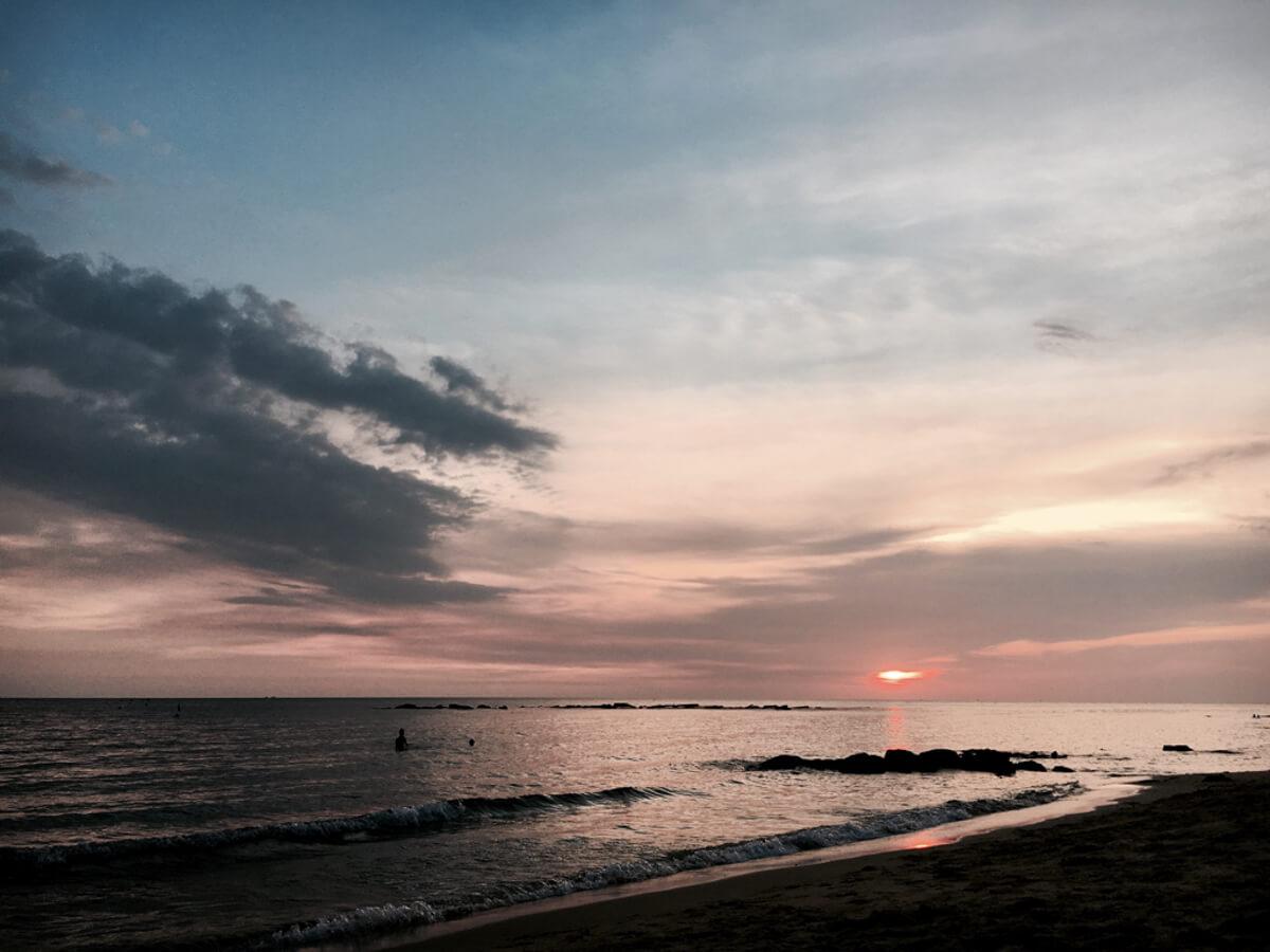 Sonnenuntergang Wunschleder Muster