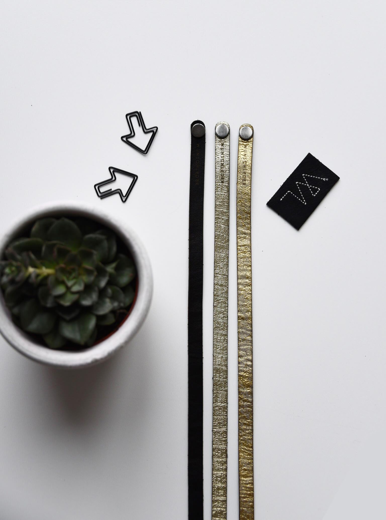 Armband personalisieren, Wunschleder