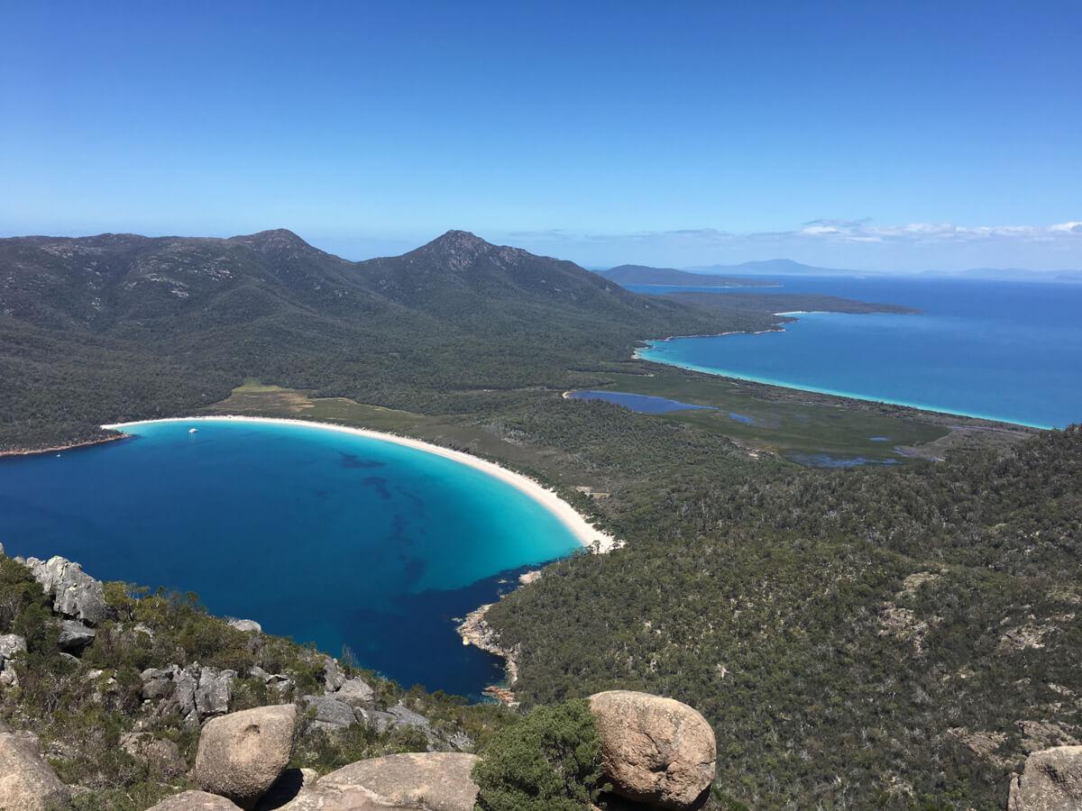Wineglassbay Tasmanien Reise
