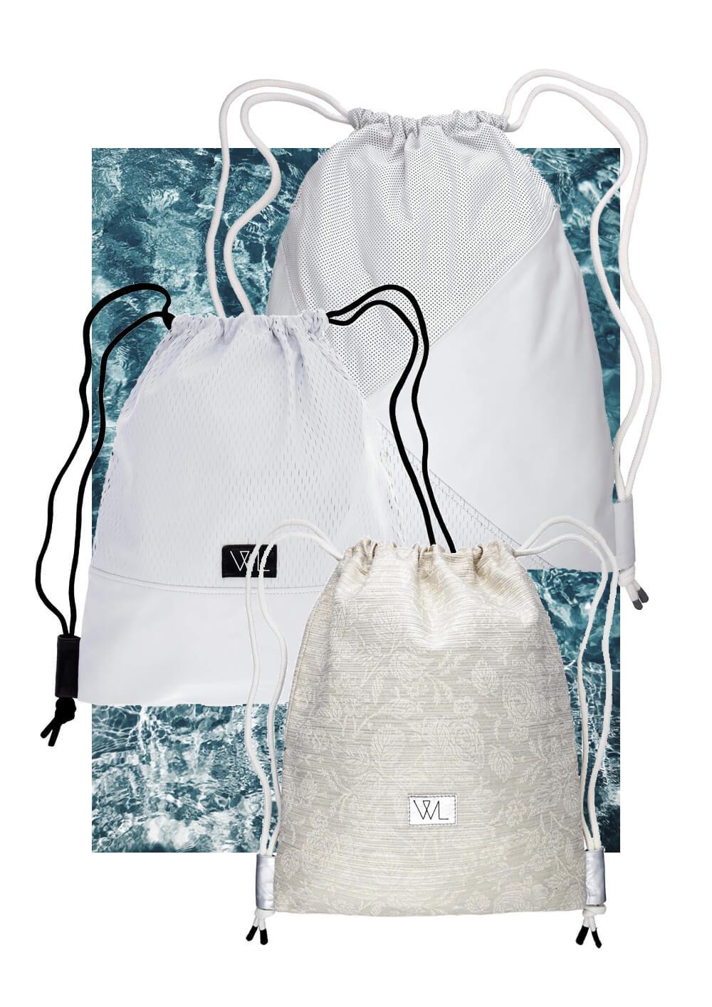 Warum ein Turnbeutel im Sommer der perfekte Rucksack für alle eure Unternehmungen und Reisen ist! Gleich lesen ! Wunschleder | Collage | Fashion | Turnbeutel | Gymbag | Illustrationen