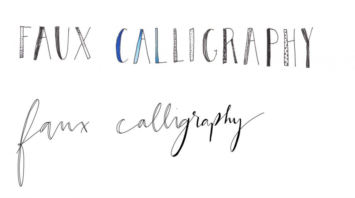 Faux Calligraphy Handlettering lernen Brushlettering für Anfänger How to Tipps Wunschleder