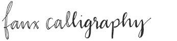 Faux Calligraphy für Anfänger | Wunschleder