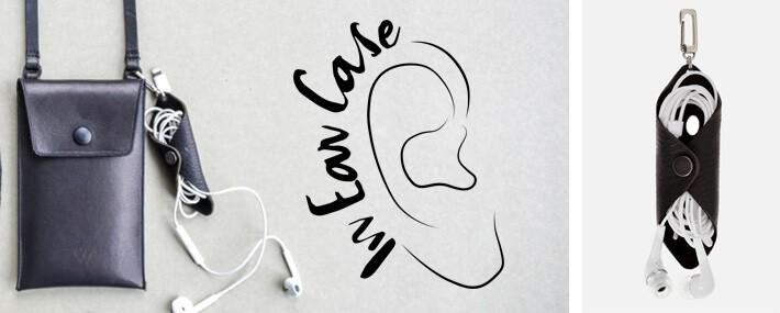 In Ear Case Leder| headphone case| Kopfhörer Tasche | Kopfhörer Etui| Wunschleder