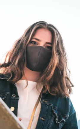 Mundbedeckung | Behelfsmaske | grau | 3-lagig | waschbar | wiederverwendbar | Wunschleder