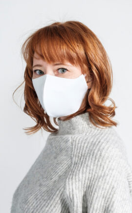 Mundbedeckung | Corona Virus | Baumwolle Jersey mit feinem Vlies kombiniert | weiß | waschbar | wiederverwertbar | Wunschleder