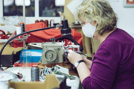 Mundbedeckung | Manufaktur | Maskufaktur | nähen | Wunschleder