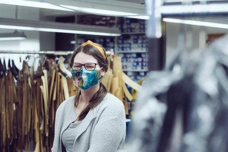 Mundbedeckung, Maskufaktur, Wunschleder