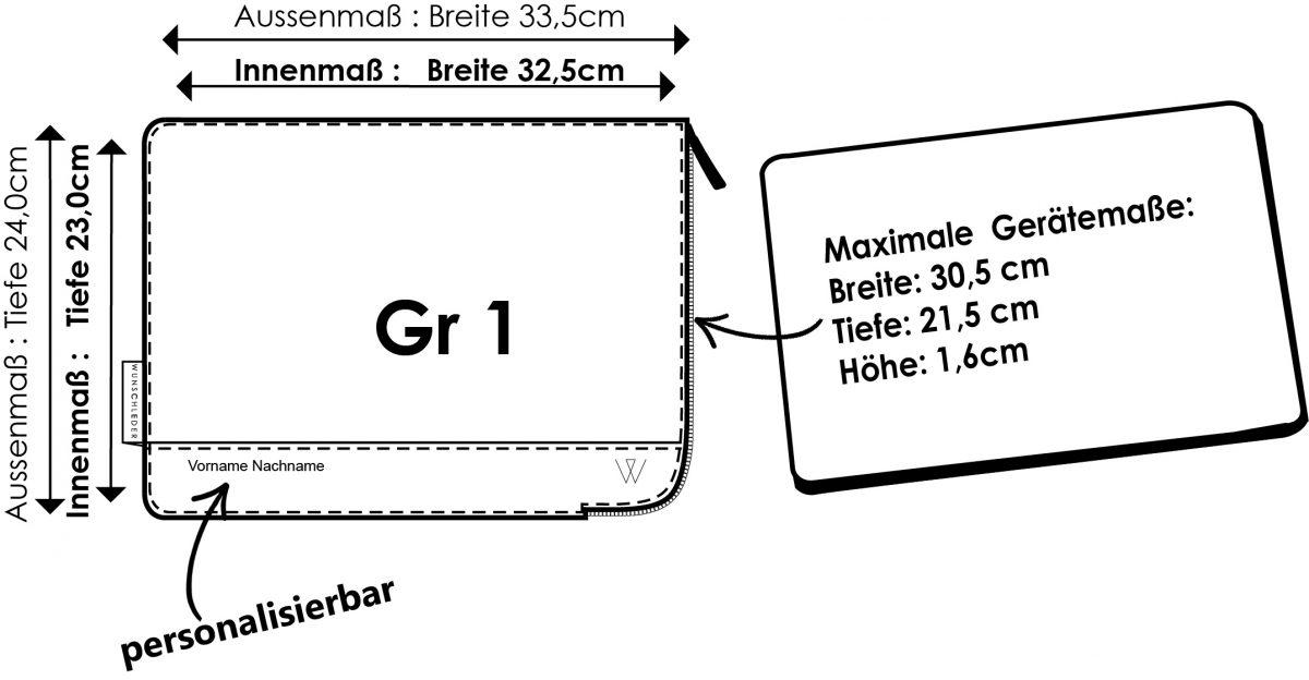 Notebook Hülle MacBook Hülle Filz Maße Wunschleder