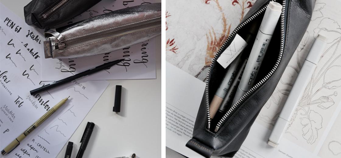 Lederetui für Stifte | Stifteetui | Lederetui Stifte | Stifteetui Leder | Federmäppchen | Ledermäppchen Stifte | Wunschleder
