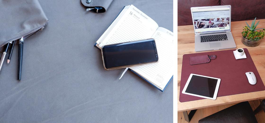 Schreibtischunterlage Leder| Schreibtischauflage Leder| Wunschleder