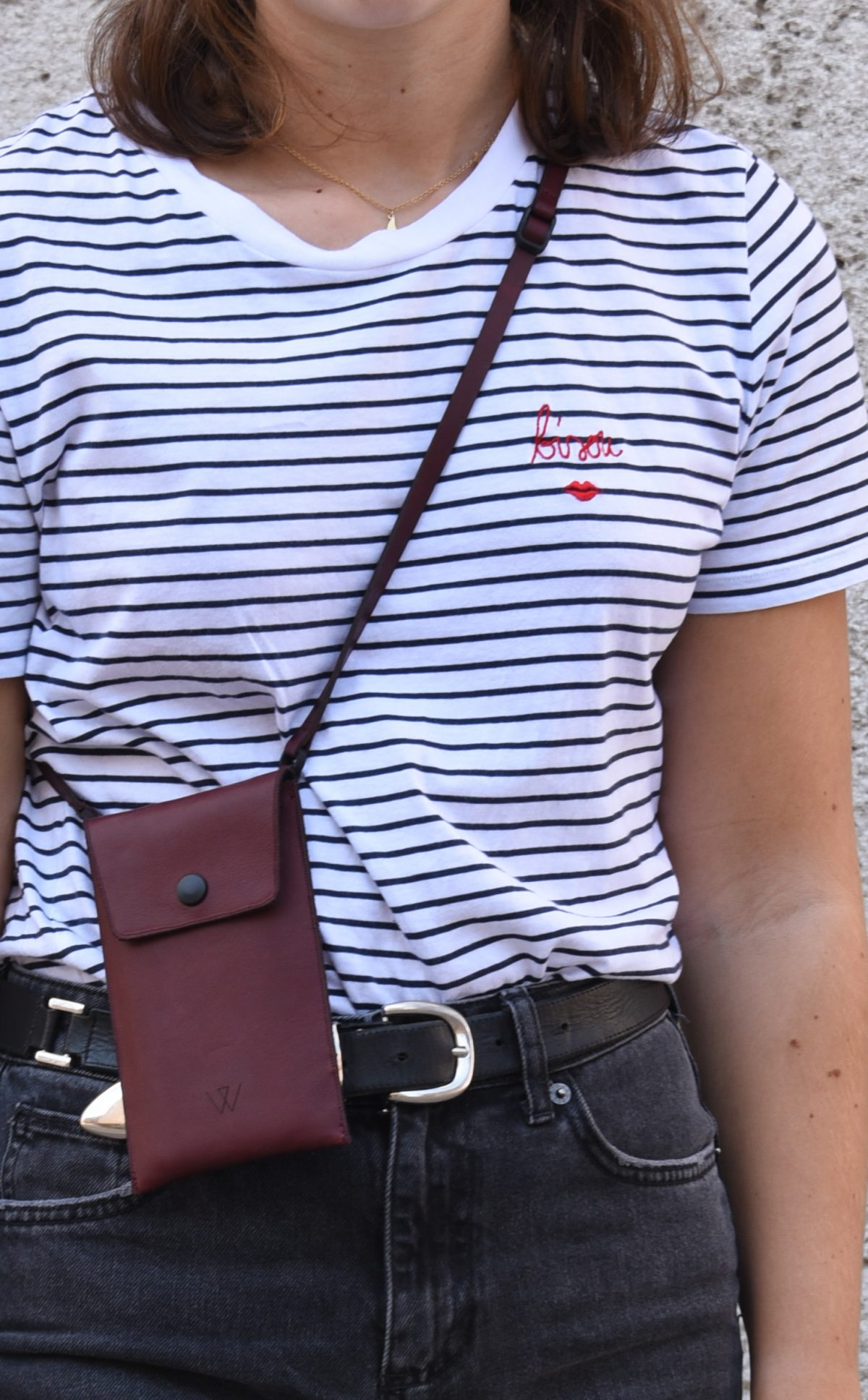 Outfit Inspo Handytasche kombinieren Wunschleder
