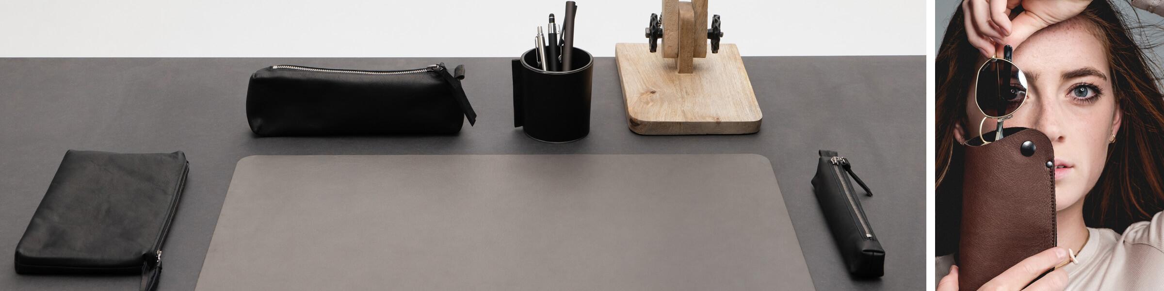 Bürozubehör Leder  Büroausstattung Leder  Schreibwaren Leder   Büroequipment Leder  Wunschleder